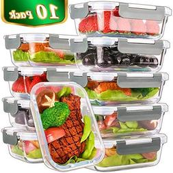 Glass Meal Prep Containers,Glass Food Storage Containers wit