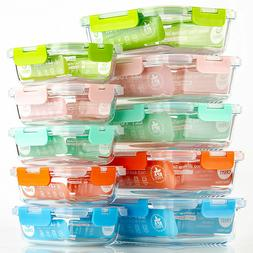 Glass Food Storage Containers with Lid Storage Set Lunch Bo