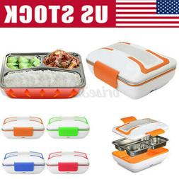 12V/110V Portable Electric Heated Food Warmer Container Lunc