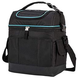 MIER 2 Compartment Cooler Bag Tote Large Insulated Lunch Bag