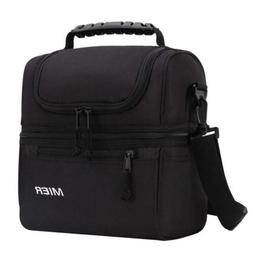 2 compartment lunch bag men women leakproof