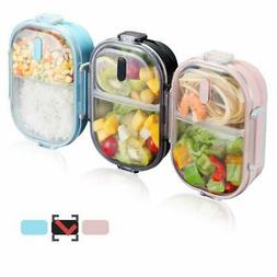 WORTHBUY 2 Compartments Bento Lunch Box with Fork and Spoon,