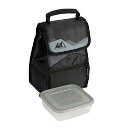 Arctic Zone 2 Compartments Hi-Top Power Pack Lunch Bag, Blac