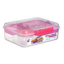 Sistema To Go Collection Bento Lunch, 56 oz./1.6L, Pink