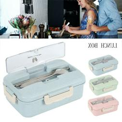 3 compartments lunch box food container set