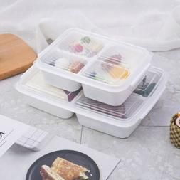 3 Grids Lunch Box Microwave Heating Students Adult Bento Box