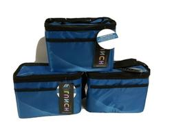 3 PACK !!!  Arctic Zone Insulated Lunch Boxes School Work Of
