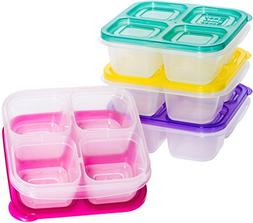 EasyLunchboxes ELB5-snack Snack Box Food Containers, 4-Compa