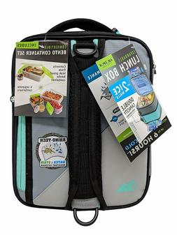 Arctic Zone 4 in 1 Expandable Lunch Box, Light Gray, 5 Layer