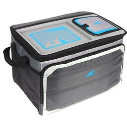 Arctic Zone 50-Can Collapsible Tabletop Cooler, Grey