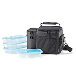 Fit & Fresh 7300FFWB2309 Lunch Box with Set of 4 Reusable Co