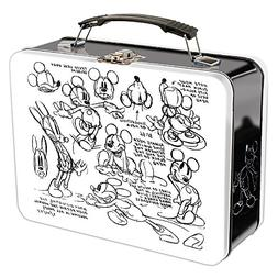 Vandor 89170 Disney Mickey Mouse Sketch Large Tin Tote, 9 x