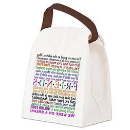 CafePress - Friends TV Quotes - Canvas Lunch Bag with Strap