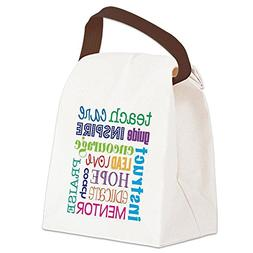CafePress - Teacher subway art Canvas Lunch Bag - Canvas Lun
