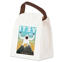 CafePress - Yeti - Canvas Lunch Bag with Strap Handle