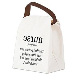 CafePress - nurse definition Canvas Lunch Bag - Canvas Lunch