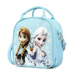 Disney Frozen Lunch Box Carry Bag with Shoulder Strap and Wa