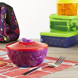 Fit & Fresh Kids' Healthy Lunch Kit, Reusable Portion Contro
