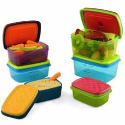 Fit & Fresh Kids' Healthy Lunch Set, 14-Piece Value Reusable