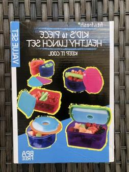 Fit & Fresh Kids' Reusable Lunch Box Container Set with Buil