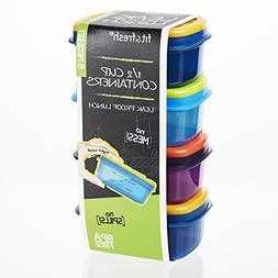 Fit & Fresh Leak-Proof 1/2 Cup Containers , Multicolor
