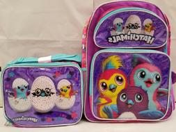 """Hatchimals 16"""" inches School Backpack & Lunch Box for Girl N"""