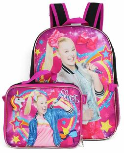 JoJo Siwa Girls School Backpack Lunch Box Combo SET Book Bag