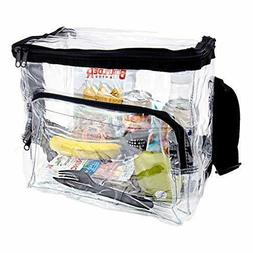 Large Clear Lunch Bag Heavy Duty Clear Lunch Box with Adjust