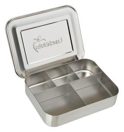 LunchBots Bento Cinco Large Stainless Steel Food Container -