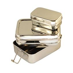 Medium 3-in-1 Stainless Steel Lunch/Meal Box with 3 Compartm
