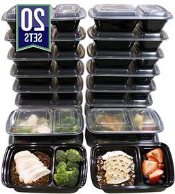 Misc Home  32 Oz Two Compartment Meal Prep Containers BPA-Fr