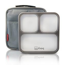PackTOGO Leakproof Bento Lunch Box Container Set w/Insulated