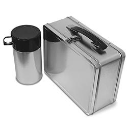 Plain Metal Lunch Box and Thermos