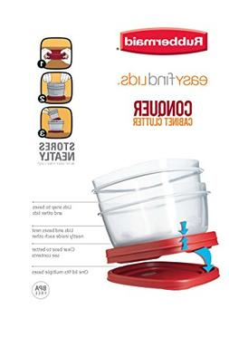 Rubbermaid 608866902584 Easy Find Lids Square 3-Cup Food Sto