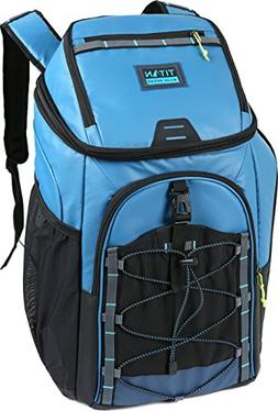 Titan Coolers Guide Series 30 Can Backpack Cooler, Blue