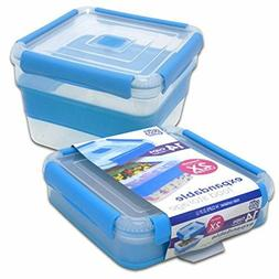 Airtight Lunch Cube Container Microwave Safe Food Store Box