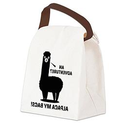 CafePress - Alpaca My Bags - Canvas Lunch Bag with Strap Han