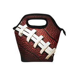 Naanle Sport American Football Insulated Zipper Lunch Bag Co