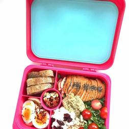 Aohea Kids Bento Box for Lunch or Snack Microwavable Buckle