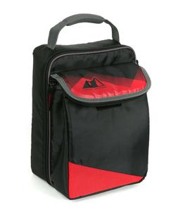 Arctic Zone Expandable Hardbody Black & Red Lunch Box