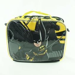 Batman Kids Lunch Bag Box Black Soft Insulated with Shoulder