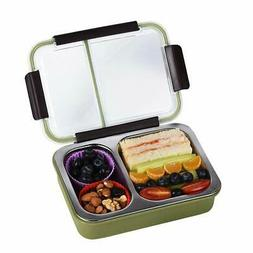 Bento Box 2 Compartments Stainless Steel Lunch Box for Adult