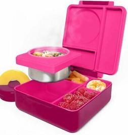 OmieBox Bento Lunch Box With Insulated Thermos For Kids, Pin