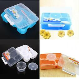 Bento Lunch Box Food Boxes For Kids Adults Microwave With So