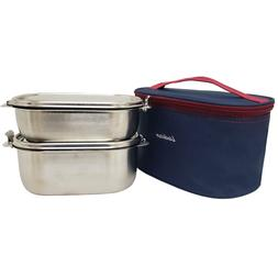 Bento Lunch Box Food Container Storage Set, Leak Proof Stain