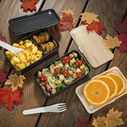 Bento Lunch Box For Adults Meal Prep Container Stackable Lea