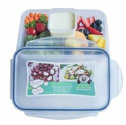 Bento Lunch Box for Kids & Adults with 2 Compartments and On