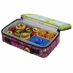 Bento Box Lunch Kit Fit and Fresh Reusable BPA Free Removabl