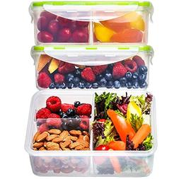 bento meal prep containers divided