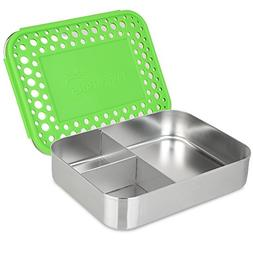 LunchBots Bento Trio Large Stainless Steel Food Container -